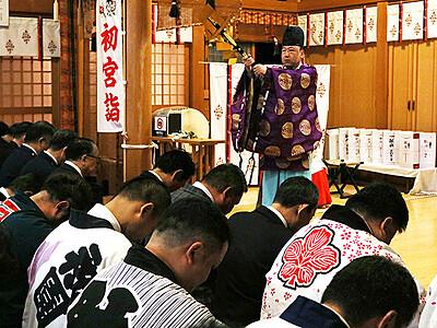 祭りの安全祈る 17、18日に岩瀬曳山車祭
