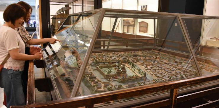 現在の松本市立博物館に展示されているジオラマ
