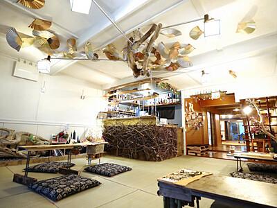 長屋改装、アートなカフェバー 諏訪とペルー出身の2人が松本に
