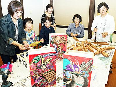 手作りの土産品いかが 来月、津沢夜高あんどん祭