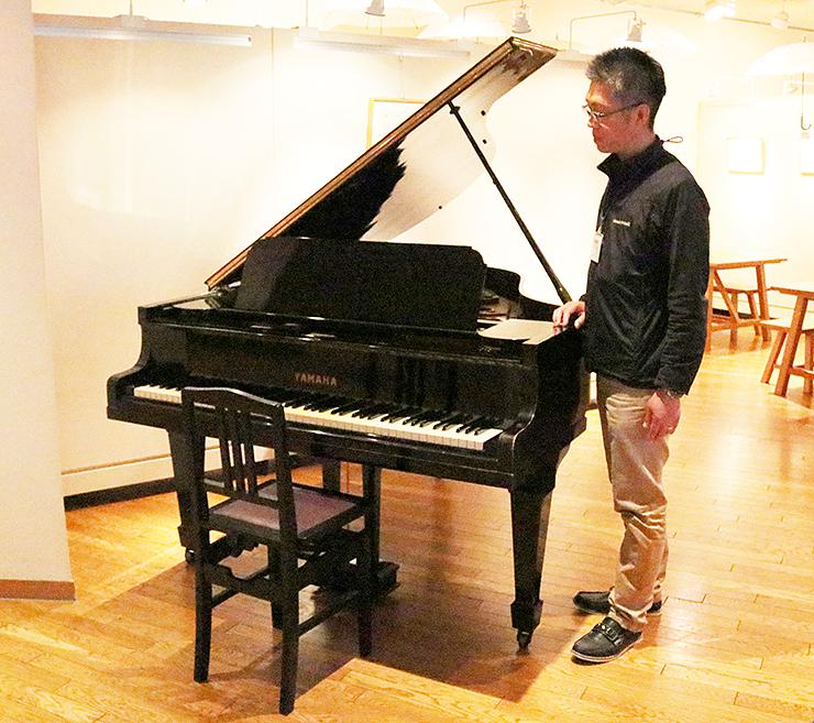 月光荘から黒部市に寄贈され、セレネに置かれているグランドピアノ