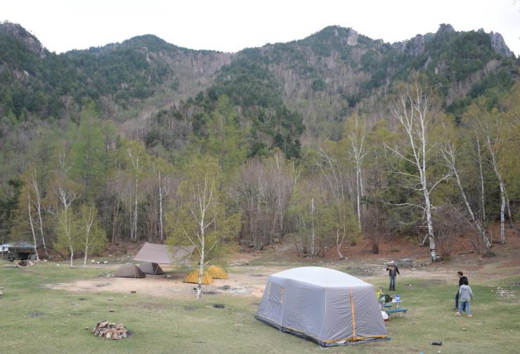 ユネスコエコパークの「移行地域」に含まれる見通しになった川上村の廻り目平(まわりめだいら)キャンプ場=17日午後