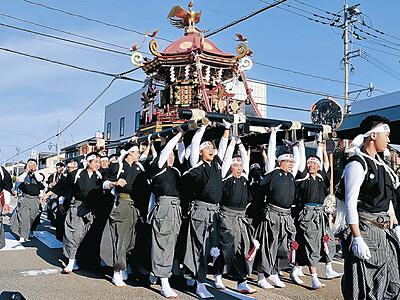神輿、世代超え一丸 白山・美川、おかえり祭り開幕