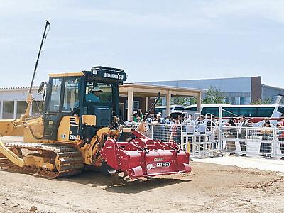 「スマート農業」興味津々 コマツ粟津工場開放デー