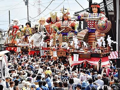 三国祭中日 山車、令和も勇壮に旧市街地練る