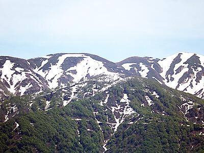 僧ケ岳の雪絵は多彩です! 耕す人、種をまく人