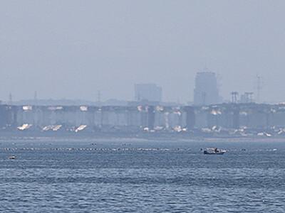 魚津で春型蜃気楼 今年初Bランク