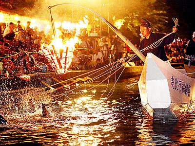 万葉の世界堪能 婦中で売比河鵜飼祭