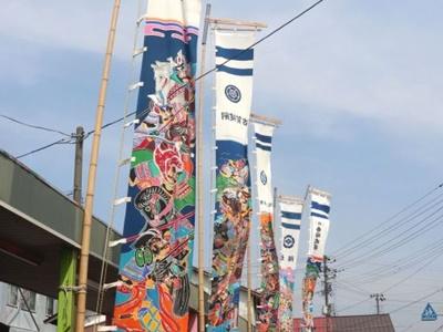 城下町の風情彩る 6月6日までのぼり旗祭り 五泉・村松
