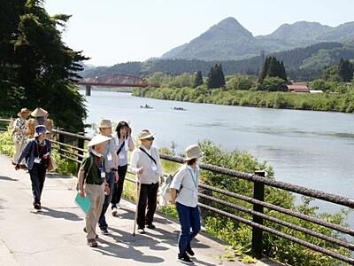 イザベラ・バードたどる町歩き 阿賀から開始7月中旬まで
