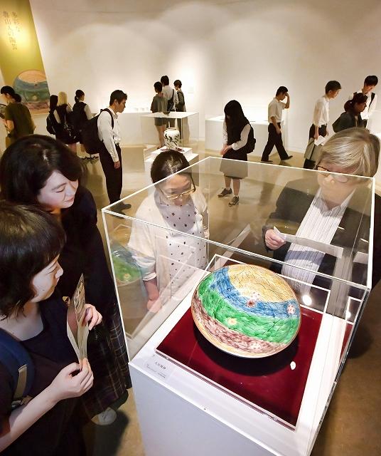 魯山人の器の魅力を紹介する企画展=6月1日、福井県の福井市美術館