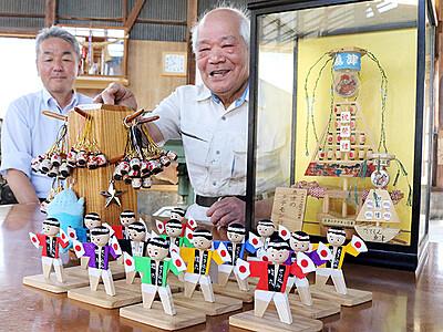 亡き友思い蝶六人形制作 魚津の西川さん