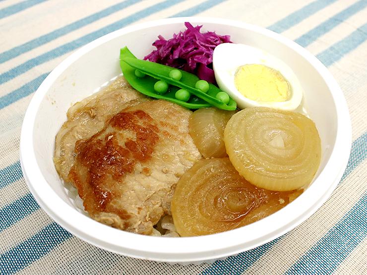 販売するコラボ丼「ポークジンジャー丼」
