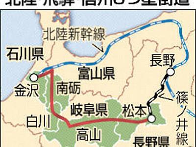北陸・飛騨・信州3つ星街道 長野市、連携して観光PRへ