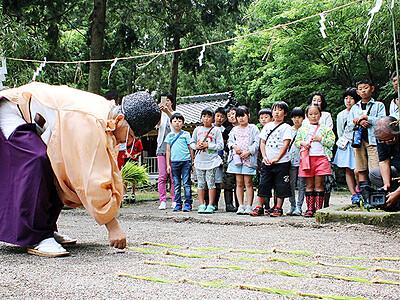 五穀豊穣願い御田植祭 射水・下村加茂神社