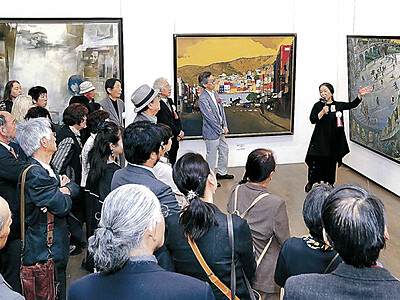 「精鋭ぞろい」114点 二紀展金沢展開幕 21世紀美術館
