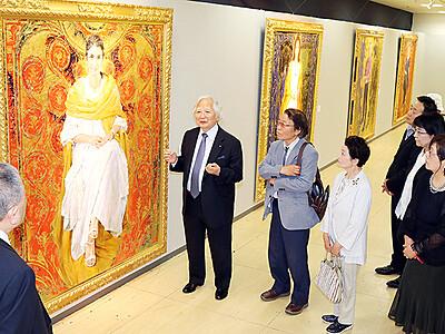 見る者引きつける大作 富山大和で藤森さん個展