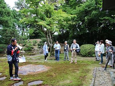新発田米倉地区 宿場町の風情味わう 庭園巡り地産食材も