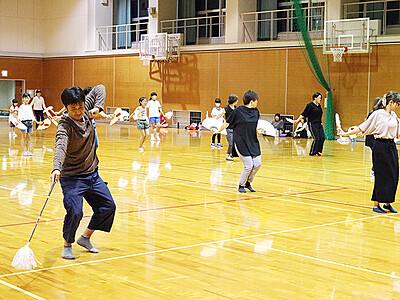 名物 木遣り踊り磨き 7月 いなみ太子伝観光祭