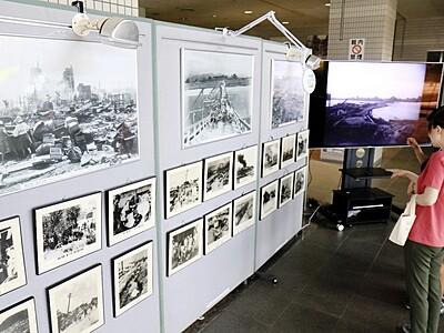 福井地震「忘れてはならない」 防災センターでパネル展