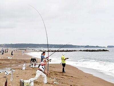 キス投げ釣り自慢集結 全国84人が腕前競う