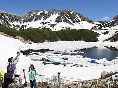 立山さわやか みくりが池雪解け