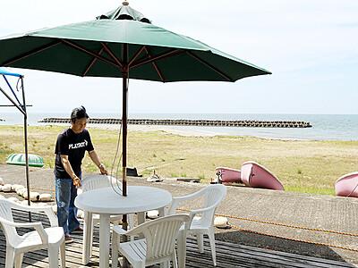 夏本番待ち遠しい 富山の八重津浜7月オープン