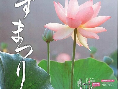 花はす公園、130種お出迎え 福井県南越前町、はすまつり開幕
