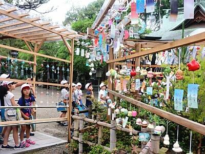 涼やか夏の音色 五泉八幡宮・風鈴祭