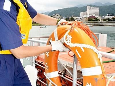 救命設備「よしっ」 蘇洞門遊覧船を点検 福井・小浜