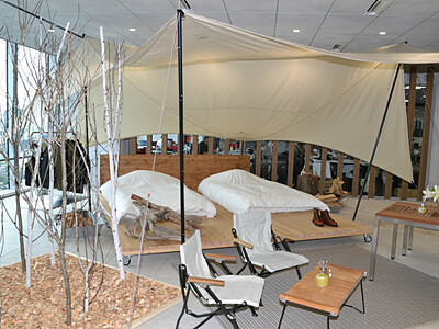「グランピング」本格開業へ 白馬・八方尾根スキー場内