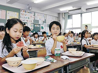 農産物ブランド 小学校給食に「小玉すいか」