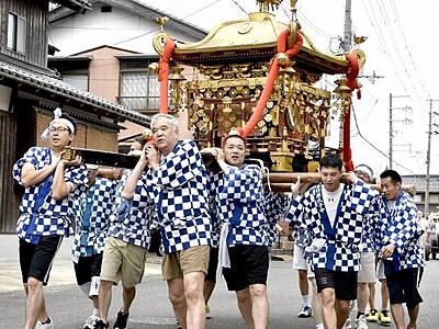 小浜、祇園祭が開幕 豊漁、豊作願い神輿巡行