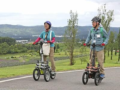 電動三輪車ガイドツアー 長岡・越後丘陵公園の山坂散策