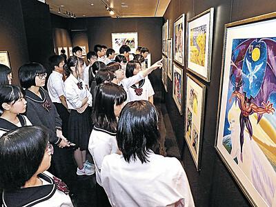 永井豪さんの世界観堪能 県歴史博物館で画業50年展