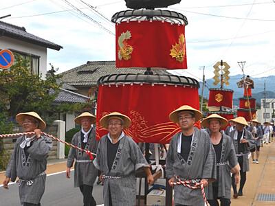 笠鉾、夏を練り歩く 「須坂祇園祭」始まる