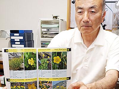 立山の植物まる分かり 県生物学会長佐藤さん、ガイドブック出版