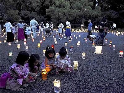 福井・敦賀の夜彩る光 3日、新・気比神宮の杜フェスタ