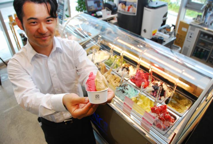 丸山珈琲が松本コーヒースタンドで販売するジェラート
