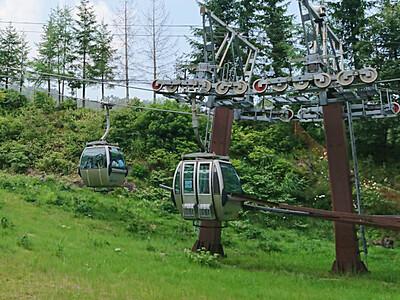 御岳ロープウェイ、7月の利用者増 山頂規制解除影響か