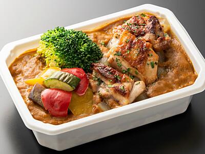 上田産リンゴ活用のカレー ANAの国際線機内食に