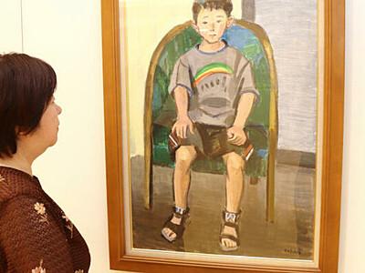 モデルの少年探しています 伊那で洋画家川上さん遺作展