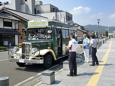 小浜市の名所周遊レトロバスが復活 10月まで土日祝限定