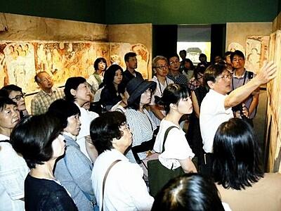 世界遺産級の文化財「宗教共存」 福井県立美術館で研究者が解説