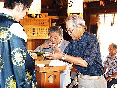 東北支援へ日本酒奉納 放生津八幡宮で25日に利き酒大会