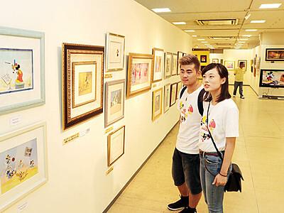 富山大和でミッキーマウス90周年展 秋の美術秀作展併催