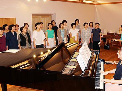 琴月の名曲合唱に磨き 高岡で25日「茜色の音楽会」