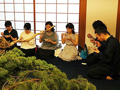 非日常空間で一服 富山でゲキシブ大茶会