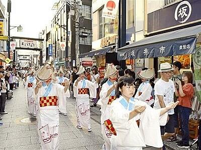 三国湊の踊りが東京練る 帯のまち流し、戸越銀座に出張
