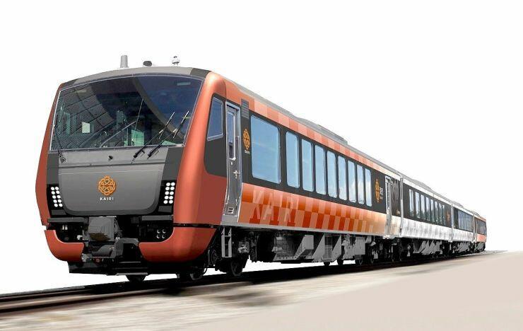 10月5日から運行する観光列車「海里」(JR東日本新潟支社提供)